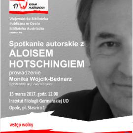 Spotkanie z Aloisem Hotschnigiem w ramach 17 Wiosny Austriackiej