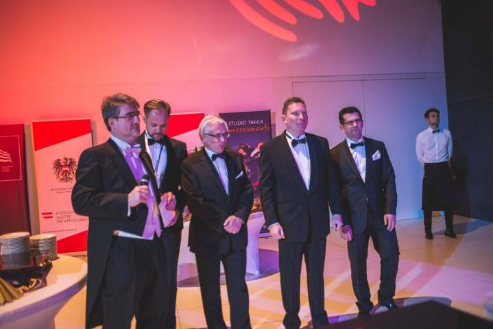 Organizatorzy Balu Wiedeńskiego 2018-przywitanie Gości