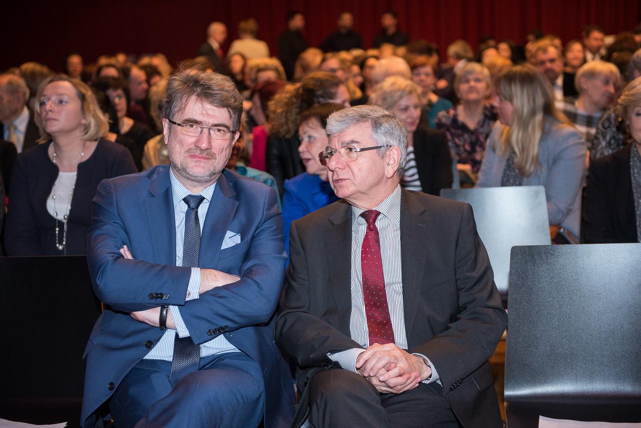 Konsul z mec. Maciejem Bobrowiczem, prezesem Krajowej Izby Radców Prawnych, na spotkaniu noworocznym Izby