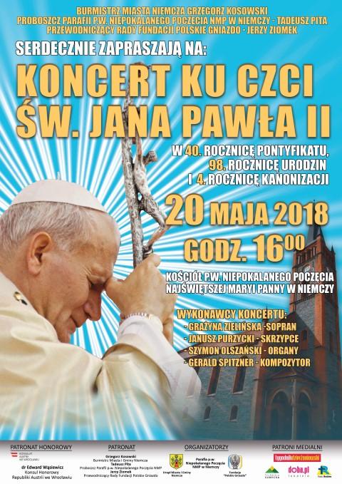 KF plakat koncert jan paweł II